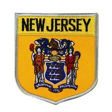 "State Flag Shield ""New Jersey"" Iron-On Badge Patch Travel Souvenir DIY Applique"