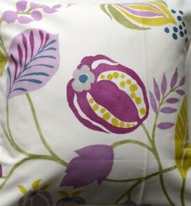 Retro Chic 'Zest Damson' purple, yellow fabric