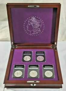 Complete Morgan SILVER Dollar Uncirculated Coin Set w/ D O S P & CC CARSON CITY