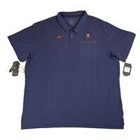 University Of Virginia Cavaliers Nike Football Polo Shirt Men's 3XL AR8906-419