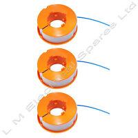 3 x Trimmer Spool & Line For Bosch ART26 Combitrim ART26 Easytrim Strimmer