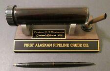 Very Rare FIRST ALASKAN PIPELINE CRUDE OIL TANKER S.S. MANHATTAN 001 PEN STAND