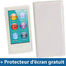 Blanc Étui Housse Case TPU pour Nouveau Apple iPod Nano 7ème Génération 7G 16GB