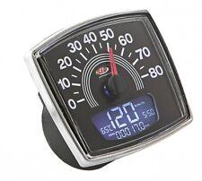 Vespa 50 Special SIP Digital Speedo & Rev Counter - Black - 80 KMPH