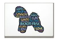 Bichon Frise Art Print Dog Word Art A4 A3 Mothers Day Gift Personalised Option