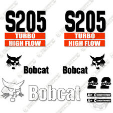 Bobcat S205 Decal Kit Skid Steer Decals Replacement Stickers (2 Stripe)