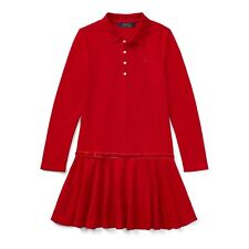 POLO RALPH LAUREN GIRLS RED STRETCH MESH POLO DRESS 4 YEARS