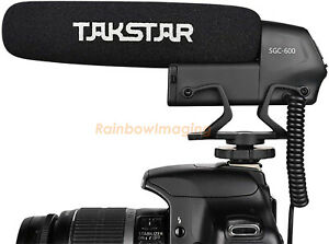 TAKSTAR SGC-600 Cardiod Shotgun Interview Microphone Mic for 3.5mm Smart Phones