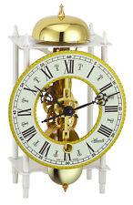 (New!) MAINZ White Skeleton Mantel Clock Hermle Clocks bell 23005-000711