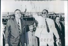 1967 Yugoslavia President Josip Tito With Gamal Abdel Nasser Egypt Press Photo