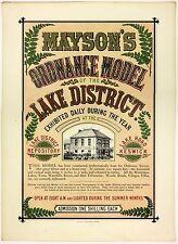 Antique Lithograph Poster Keswick Mayson's Ordnance Model Lake District Rare