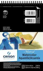 """Canson Montval Spiral Watercolor Pad 5.5""""X8.5"""" 12 Sheets 3148955729281"""