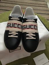 Mens Gucci Stripe Leather Sneakers Trainers size 10 Brand New £450 Genuine