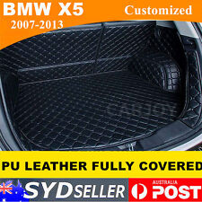 Waterproof PU Leather Car Rear Trunk Boot Liner Protector Cargo Floor Mat BMW X5