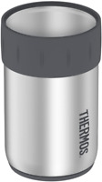 Thermos Stainless Steel 12 oz Beverage Can Insulator Keeps Cold 3 Hours, New
