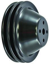 SB Chevy SBC Black 2 Groove Short Pump Water Pump Pulley  283 327 350 400 V8 SWP