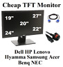 "Cheap 19"" 20"" 22"" 24"" 27"" TFT Computer PC CCTV Monitor Screen Dell HP Samsung"