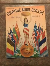 1945 Orange Bowl Program Georgia Tech Tulsa
