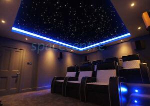 Twinkle stars fiber optic lights kit baby room star ceiling wall lights RGBW 16W