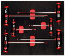 WURTH ZEBRA Genuine TX T-Handle Set di cacciaviti, 6 PEZZI, Schiuma