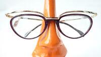 Damenfassung Brille Gestell Katzenauge Pin Up ausgefallenes Design Brillen Gr M