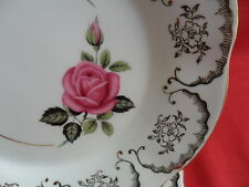 "Imperial china, Gold Chintz & Rose design, 2 x 6.25"" Teaplates"