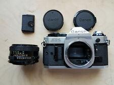 Canon AE-1 Program 35mm SLR Camera w/ Canon FD 50mm Lens