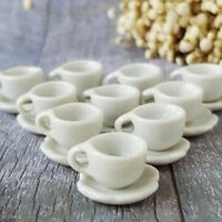 1cm White Mini 20 Coffee Cup/&20Saucer Dollhouse Miniatures Ceramic Supply Deco