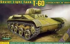 Ace-t-60 Soviet light tank Zavod 1942 + ätzteile 1:72 modelo-kit tanques pz