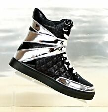 Alexandra Collection Womens Size 9 High Top Black / Silver Sneaker Shoes NEW WOT