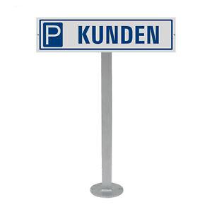 Parkplatzschild mit Standpfosten zum anschrauben Motiv Schild Kunden