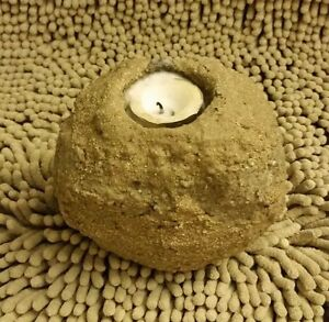 Rocking Rock-like stone Tea light Candle Holder Earthquake-proof bump resistant