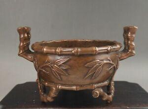 A fine Chinese early 20C Xuande marked cast bronze censer-Republic