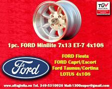 1 Cerchio FORD LOTUS TALBOT Minilite 7x13 ET-7 4x108 Wheel Felge Llanta Jante