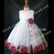 Robes rouge habillé à 4 ans pour fille de 2 à 16 ans