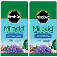 2 ea Miracle Gro 1850011 4 lb 30-10-10  Miracid  Acid Loving Plant Food