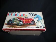 "Bump 'n Go Hot Rod Car Crank Friction KO Japan Works & Looks Great! 7"""