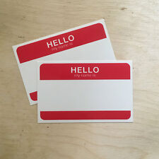 Hello My Name Is VINYL sticker graffiti graff classic street art create paint