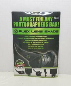 "Flex Lens Shade Adjustable Flexible Lens Shade for Any SLR Lens #A001 5"" x 7"""