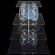 Acrílico Transparente Con Cuatro Niveles Cuadrado Acebo