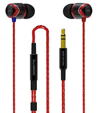 SoundMAGIC E10 RED & Black Noise Isolating In-Ear Headphones Earphones Earbuds