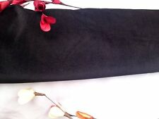 "NEW Beautiful Black stretch Cotton Velvet Elastane Fabric 142cm 55"" Cloth Skirt"