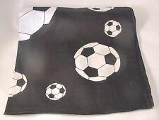 Unisex Head Band Bandanna Soccer Pattern BLACK white Flat Soccer Ball Futbol