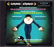 Kirill KONDRASHIN: KHACHATURIAN Masquerade KABALEVSKY Comedians LIVING STEREO CD