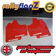 ANTIBECCHEGGIO per adattarsi HYUNDAI GETZ RallyflapZ Parafanghi in rosso (logo Bianco) 3mm PVC