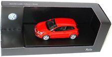 RARE VW POLO 6R 2009 3 DOOR TSI TDI ROCKET ORANGE 1:43 SCHUCO (DEALER MODEL)