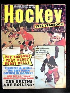"Vintage NHL Bobby Hull/ Ed Giacomin on Cover ""Hockey"" 1972 Yearbook"