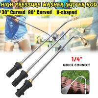 High Pressure Washer Gutter Cleaner Lance/Wand 1/4'' Quick Connect For Karcher