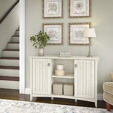 Farmhouse Storage Cabinet Sideboard 2 Door Mission Antique White Kitchen Entry