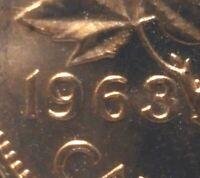 Canada 1963 Small Cent  *Dot in 9*  Gem BU!!